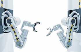 two robotic arms